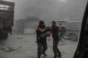الموقف السياسي للحم طفل مشوي في الغوطة